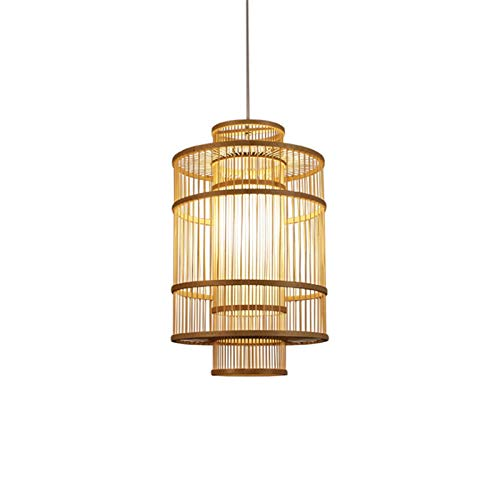 Chandelier de Luz Colgante Retro Araña de bambú arte de la lámpara tailandesa restaurante Club Salón de té de la lámpara rota Arte Nuevo chino de bambú de la lámpara de la lámpara Zen Luz de Techo Ind