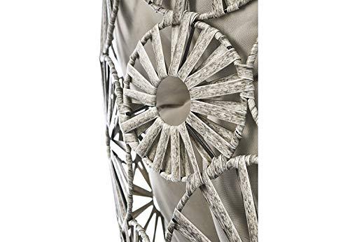 Kobolo Hängekorb Hängesessel Flower mit Gestell Schwingkorb – Polyrattan – grau meliert - 6
