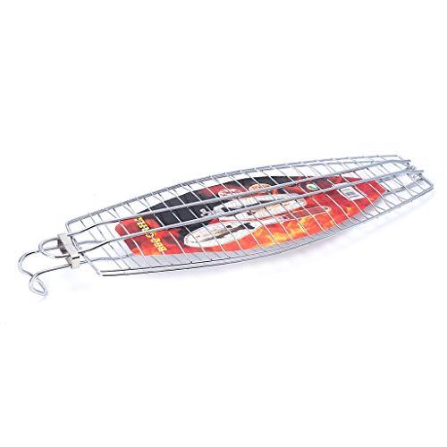 Yajiun Grillgitter Für Fisch,grillnetz BBQ Hangable,48 X 15,5 cm