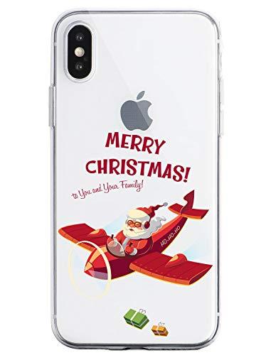 Oihxse Case Compatible Para Oppo Reno2, Etui en Silicone Souple Ultra Mince Transparente Crystal Coque Motif de Mignon Noël Christmas Snowflake Protec