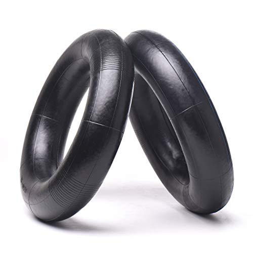 2 Pack 3.00/3.50-8 Replacement Inner Tubes with TR4 Valve Stem for pneumatic wheelbarrow wheel,cart wheel, garden cart, wagons - Made From Heavy Duty, Thick Premium Rubber