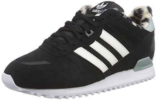 adidas ZX 700 W - Zapatillas para Mujer, Color Negro/Blanco/Beige/Verde, Talla 40 2/3