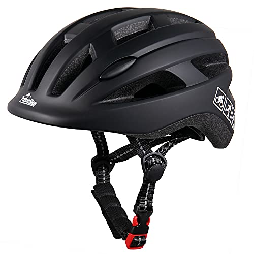 TurboSke Kids Bike Helmet, CPSC Multi-Sport Skateboard Size Adjustable Helmet for Kids (Matte Black, Small)