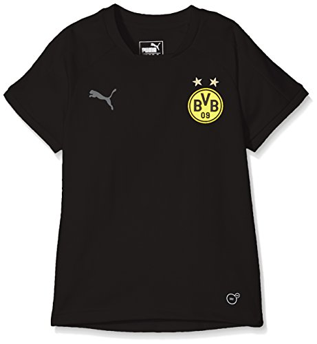 PUMA Kinder BVB Casual Tee Without Sponsor Logo Trainingsshirt, Black, 176