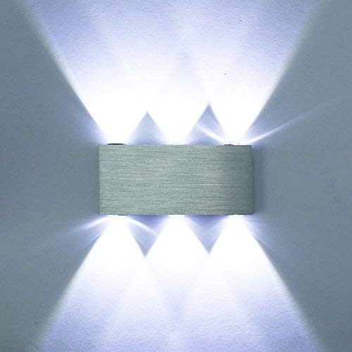 ETiME® LED Wandleuchte 18W Wandlampe Kaltweiß Treppenlampe Modern Flurlampe Licht Innen Effektlampe(18W Kaltweiss)