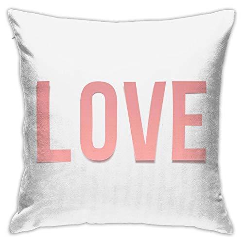 Funda de almohada con texto en inglés 'Love Word' para el día de San Valentín o dormitorio, sala de estar, habitación, sofá, 45,72 cm