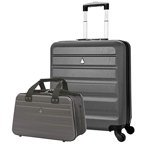 Aerolite 56x45x25 Easyjet Maximum Allowance Suitcase Luggage Bag 46L + 40x20x25 Carry On Shoulder Flight Luggage Bag