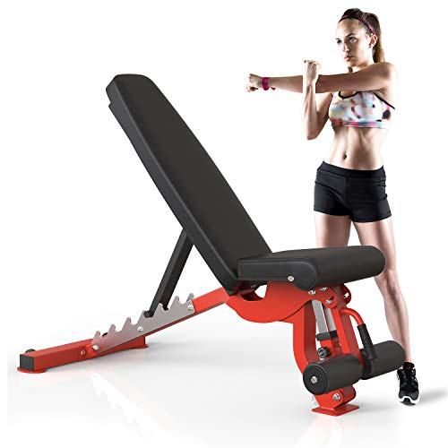Merax 1000LBS Utility Weight Bench for Full Body Workout, Weightlifting and Strength Training...