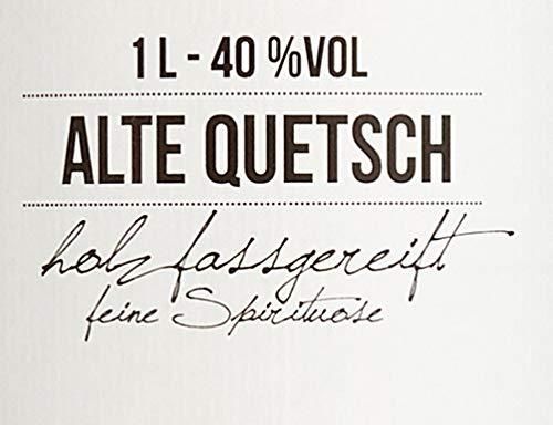 BIRKENHOF Brennerei | Alte Quetsch - feine holzfassgereifte Spirituose | (1 x 1l ) - 40 % vol. - 4