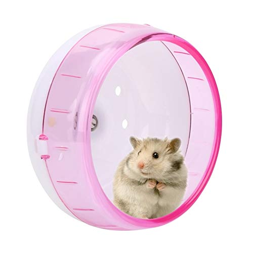 Unibell Kunststoff-Super Silent Roller Übung Laufrad Spielzeug for Kleintiere Hamster Meerschweinchen Chinchilla (Pink)