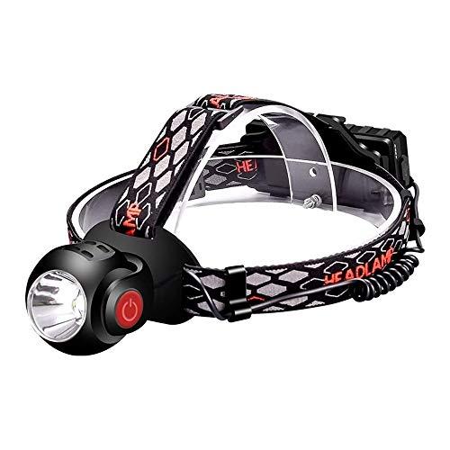 ZBQLKM Faro Recargable, Linterna de Faro LED, lámpara de Cabeza Impermeable Recargable USB para Acampar al Aire Libre Ciclismo de Pesca, lámparas de Cabeza para Adultos