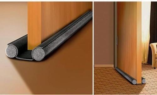 Paraspifferi Universale (protezione porta da entrambi i lati, ritagliabile su misura) L unico con garanzia 5 anni (Grigio)