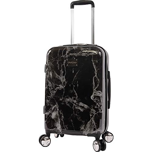 BEBE Luggage Reyna Hardside Carry-on Spinner, Black Marble, One Size