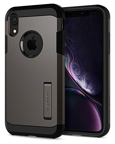 Spigen Tough Armor Hülle Kompatibel mit iPhone XR -Gunmetal