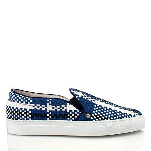 Louis Leeman Woven Slip On Sneaker Blue/White