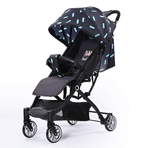 Kinderwagen Stoßfest Sitzen Kann Liegend Leicht Und Einfach Zu Falten Kinderwagen Rosa Tragen,Blue