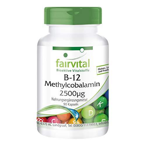 Vitamine B-12 capsules - methylcobalamine 2500mcg - HOOG GEDOSEERD - VEGAN - 90 capsules