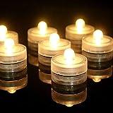 12 Tauchen führte wasserdicht Kerzen Kerzen elektronische Wassertauchlampen Kerzen schwimmend,Warm...