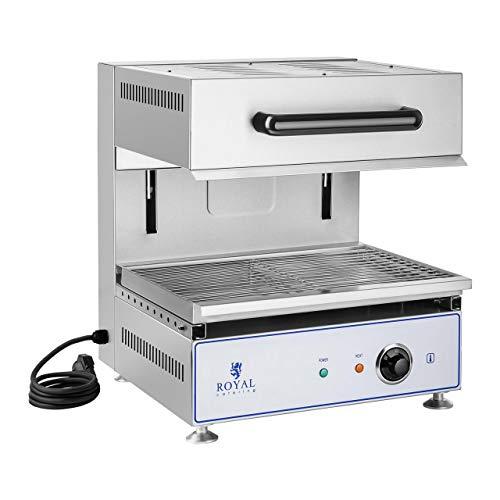 Royal Catering Salamandre Toaster Electrique Grill Cuisine RCLS-450 (2.800 W, 51 x 46 x 52,5 cm, réglable en hauteur, 230 V, bac de récupération à miettes)
