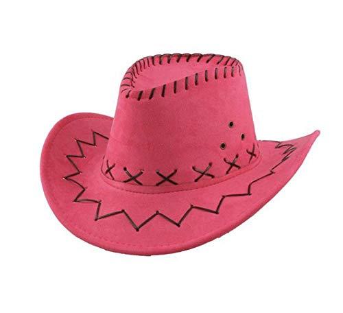 Carnavalife Sombrero Cowboy de Vaquero Toy Story Western Disfraz para Adulto y Nios YJ-24 (Fusia, Adulto/58cm)