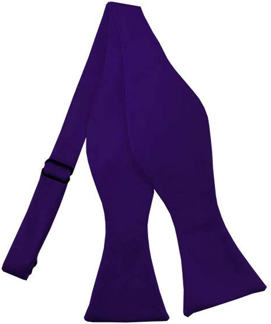 Solid Dark Purple Self-Tie Bow Tie