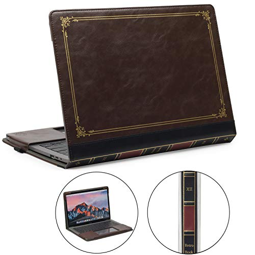 TYTX MacBook Pro Leather Case 13 Inch 2016-2020 (A1989 A1706 A1708 A2159 A2289 A2251) Protective BookBook Folio Cover (New MacBook Pro 13', Brown)