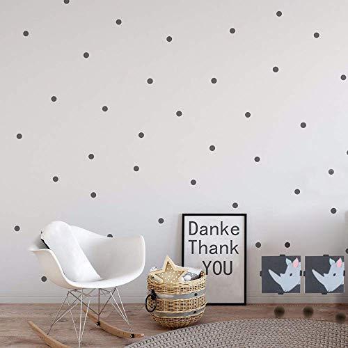 witgift Wandtattoo Dot Aufkleber 216 Punkte,Grau Dots Punkte Aufkleber,Wandtattoo Punkte für Kinderzimmer Schlafzimmer,3CM