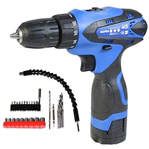 Cordless Combi Drill & Screwdriver/16.8V 1500W Power Drill, 45N.m, 1500mAh Batteries, 3/8 inch Chuck, 2 Variable Speed, 18+1 Torque Setting, Forward/Reverse Switching, 29pcs Drill Set Includes