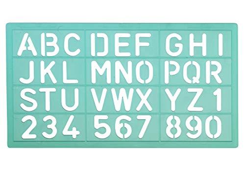 Linex 100412306 30 stuks schrijfsjabloon 8520 letterhoogte 20 mm letter- cijfersjabloon cijfers en nummers