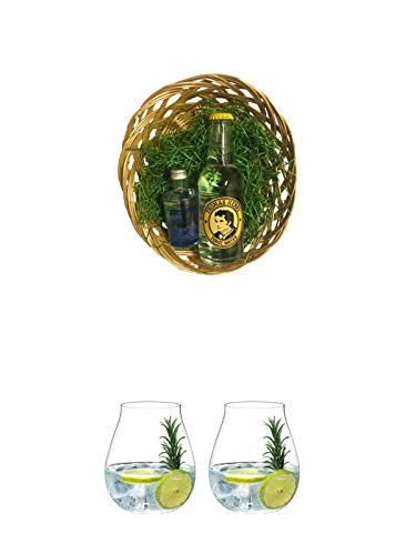 Gin Tonic Osternest/Osterkorb Jodhpur Gin 0,05 Liter & Thomas Henry Tonic Water 0,20 Liter + Gin Tonic Glas - 5414/67 + Gin Tonic Glas - 5414/67