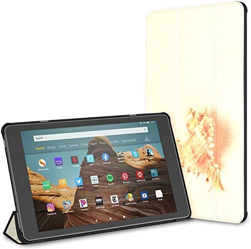 Estuche para Tableta Seashell Startfish Sea Fire HD 10 (9.a / 7.a generación, versión 2019/2017) Fundas y Fundas de Cuero para Kindle Fire Case HD 10 Auto Wake/Sleep para Tableta de 10.1 Pulgadas