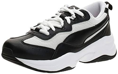 PUMA Damen Cilia Sneaker, Black-White-G Violet-Silver, 38.5 EU