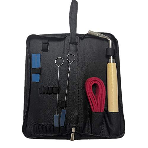 Ecloud Shop Piano Tuning Kit Klavier Stimmschlüssel Hammer Werkzeuge Zubehör Set Gummi Dämpfer Filz Temperamentstreifen für Anfänger und Profis