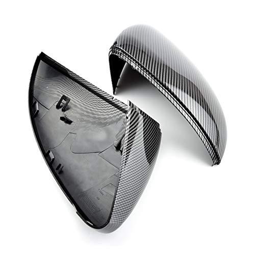 Story 2 Piezas FIT FOR VW Golf 7 MK7 7.5 GTD R GTI TURANO L E-Golf Lado Lado Espejo Espejo Caps Copa DE Cubierta DE Reproductor Espejo (Color : Carbon Look Black)