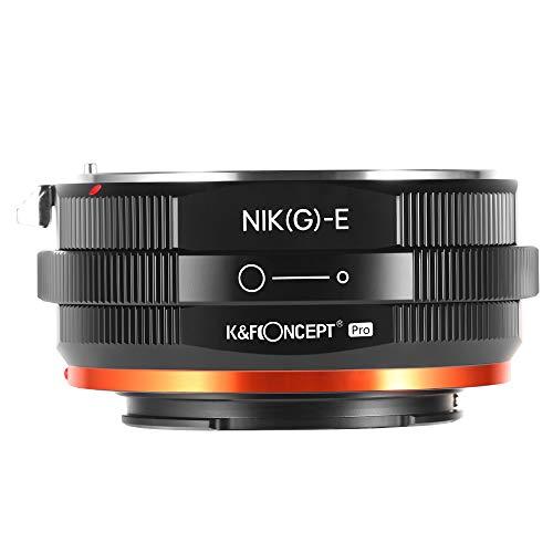 K&F Concept 【2020進化版】 マウントアダプター Nikon G AF-Sレンズ-SONY NEX Eカメラ装着 PROⅡ 絞りリング付き 内面反射防止 無限遠実現 M18105 メーカー直営店