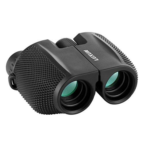 Verrekijker 10x25 Compact Vouwzicht Heldere Vogel Kijken Waterdichte Verrekijker Telescoop voor volwassenen Vogels kijken, Voetbal Safari Bezienswaardigheden Klimmen