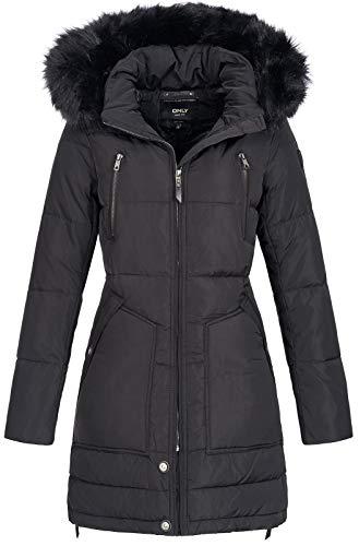 ONLY Damen Mantel Onlnew Rhoda RDS DOWN Coat OTW, Schwarz (Black), 36(Herstellergröße:S)