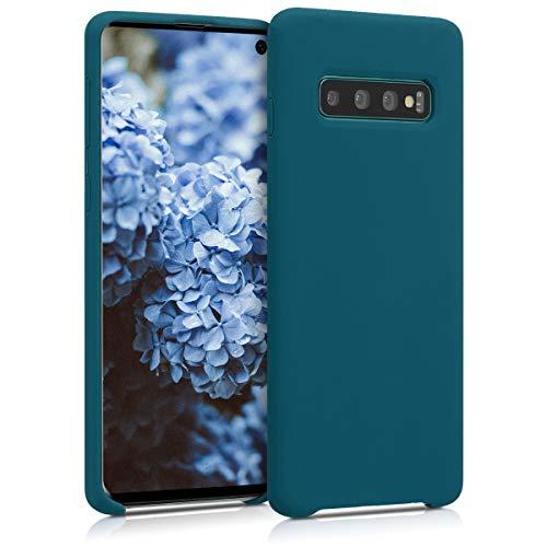 kwmobile Cover Compatibile con Samsung Galaxy S10 - Custodia in Silicone TPU - Back Case Protezione Cellulare Petrolio Matt
