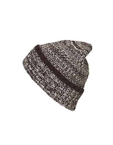 MYRTLE BEACH Men's Melange Beanie in plum/white Taille: Taille unique