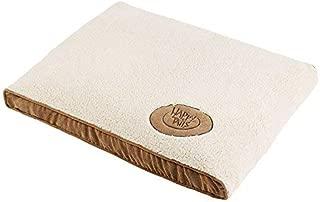 Happy Tails 39211 Corduroy Sherpa Pet Bed with Memory Foam Bottom [並行輸入品]