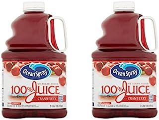 Ocean Spray 100% Juice No Sugar Added , 101.4 FL OZ per Bottle (2 Bottle) (Cranberry)
