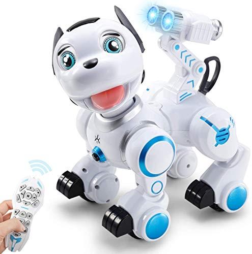 ANTAPRCIS Cane Robot Giocattolo Bambini, con Controllo dei Gesti, Programmabile Intelligente e modalità Pattuglia, Cantare Camminare Ballare Giocattolo per Bambini