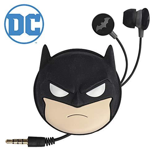 Tribe DC Comics Auriculares Batman con funda de viaje - Gadget original, Auriculares con micrófono, Compatibilidad total