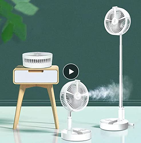 3 en 1 portátil controlado remoto ventiladores refrigeración plegable humidificador iluminación 7200 mAh batería aire acondicionado aparatos USB ventilador