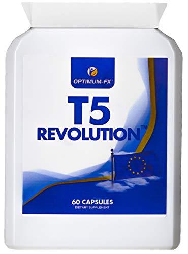 T5 Fettverbrenner für Männer & Frauen - Pillen zum Abnehmen maximale Stärke Diätpillen für Gewichtsverlust - 60 Kapseln Geld-zurück-Garantie T5 Revolution