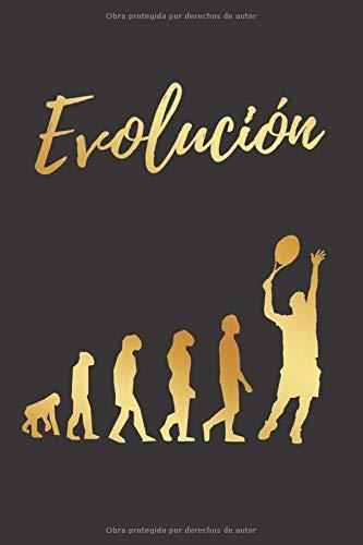 EVOLUCIÓN: CUADERNO LINEADO | DIARIO, CUADERNO DE NOTAS, APUNTES O AGENDA | REGALO CREATIVO Y ORIGINAL PARA LOS AMANTES DEL TENIS MASCULINO.