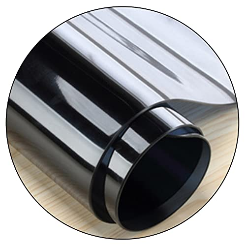 Mantel para Mesa Rectangular Impermeable Oilproof Cocina Comedor Aislar El Calor PVC Plastico Manteles Vidrio Blando, Negro, 2mm de Espesor (Color : Negro, Size : 85x135cm)