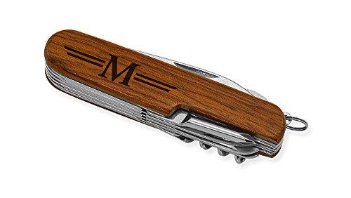 Dimension 9 Initial M or Monogram M 9-Function Multi-Purpose Tool Knife