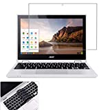 KEANBOLL 2 Pack Matte Anti-Glare Screen Protector for Acer Chromebook Spin 11& 311 11.6', Acer Chromebook R 11 11.6 Inch 2020 2019 2018 Laptop with Surprise Keyboard Skin, Help for Your Eyes Reduce Fatigue