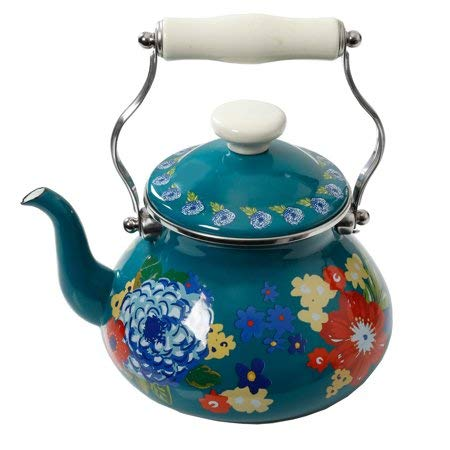 The Pioneer Woman Dazzling Dahlias 2-Quart Tea Kettle